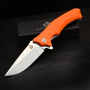 QSP-Knives STHENIA Folder 440C steel G10 orange satin