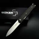 Böker Plus LRF carbon front flipper VG10 steel