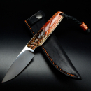 Bongo Arno Bernard Knives EDC knife with double-dyed kudu bones