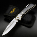 Sale - Muela Backlock pocket knife with case Micarta black