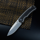 QSP Puffin German Edition Framelock Taschenmesser S35VN Stahl in Stonewashed