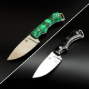 QSP Knives SK03 Workaholic GLOW IN THE DARK with N690 Blade