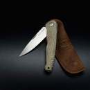 Slipjoint Messer Viper Key Green Canvas Micarta Half-Stop M390 Stahl