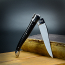 Laguiole en Aubrac Classic Line knife with ebony and polished blade 12C27