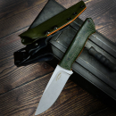 Matthias Leimküller Custom knife jute Micarta olive Handmade Solingen incl. Kydex from me with liner