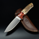 Sale - Muela Kodiak outdoor knife Hirschhorn / Cocobolo leather sheath